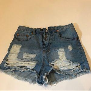 Fashion Nova Distressed Shorts
